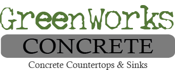Green Works Concrete Logo FINAL Dark Steel Gray with Black Lettering